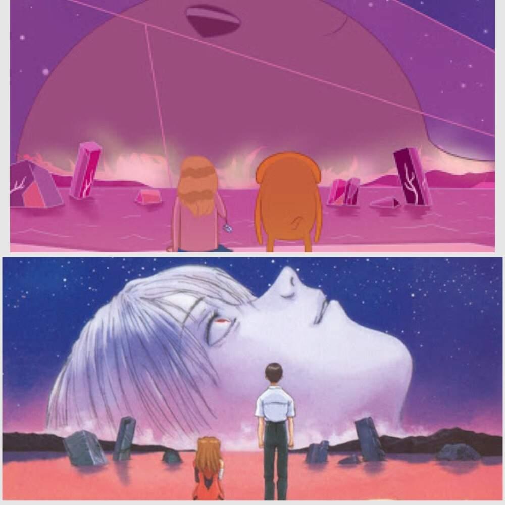 Adventure Time και η σκηνή από το End of Evangelion