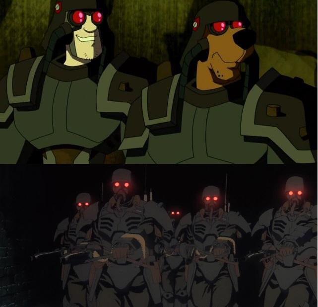 Στο Scooby-Doo έχουν στρατιώτες από το Jin-Roh