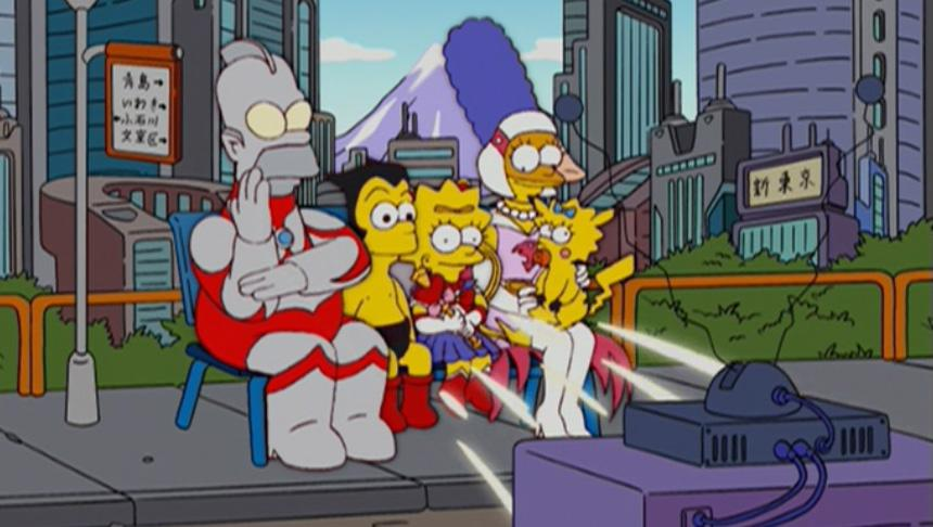Οι Simpsons γιόρτασαν τα εικονικά anime shows(Science Ninja Team Gatchaman, Pokémon, Astro Boy & Sailor Moon)...και τον Ultraman